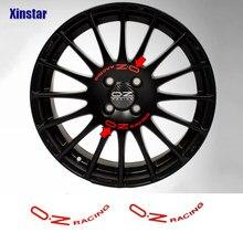 8 pçs oz que compete a etiqueta da roda para oz rali que compete rodas falou adesivos preto universal acessórios de tunning automático