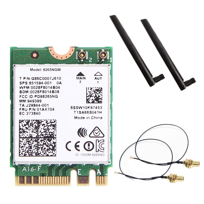 Wlan Wifi Bluetooth 8265 Mu-Mimo-Wifi Intel Dual-Band Wireless-Ac For 8265ngw/Wireless-ac/8265/..