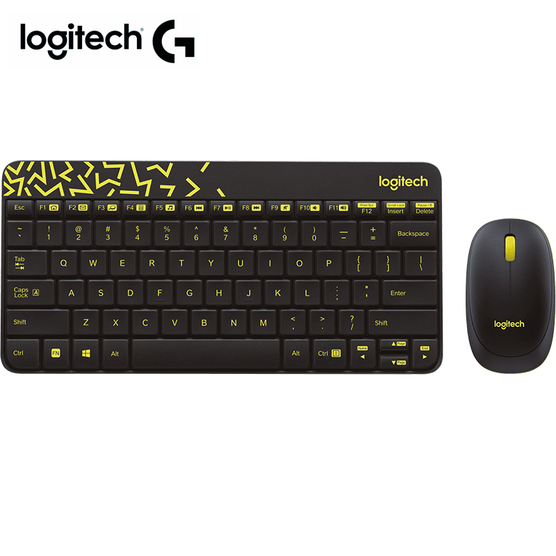 Logitech MK240 Nano Wireless Keyboard and Mouse Combo Compact keyboard & contoured mouse for laptop desktop pc gaming image