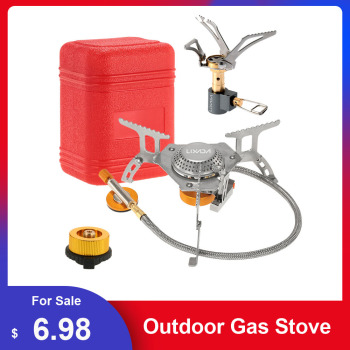 3000W Lixada Outdoor Gas Stove Folding Electronic Gas burner Camping Gas Stove Cooking Hiking Portable Cookware Split Stove цена 2017