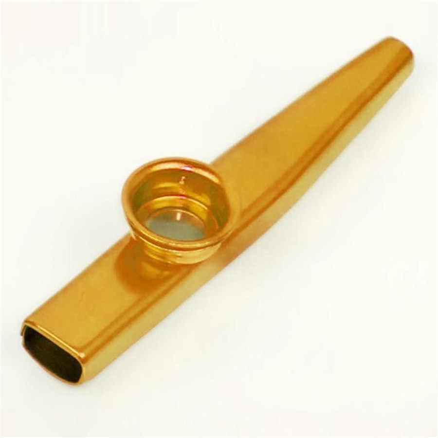 Kazoo Logam Paduan Aluminium Ringan Orff Instrument Portable Pemula Flute untuk Gitar Pecinta Musik