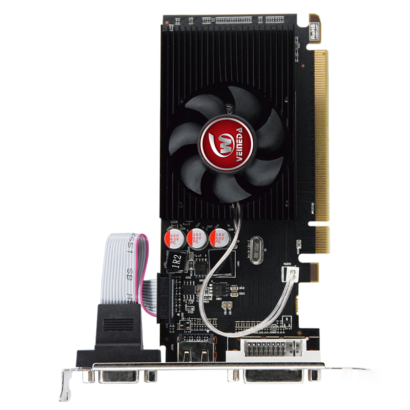 HD6450 GPU Veineda Desktop Graphics Cards hd6450 2GB DDR3 Graphic Video Card PCI Express For ATI Radeon Gaming 5