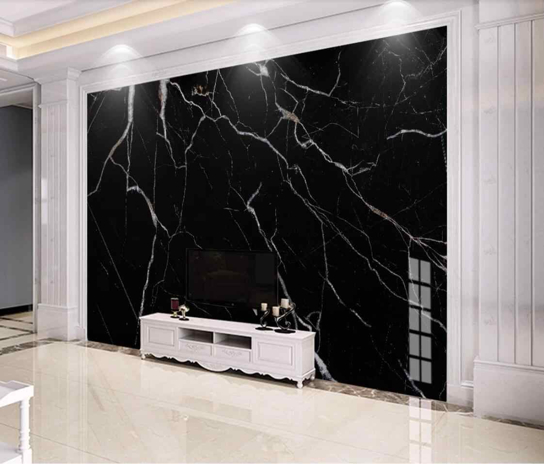 Black Marble Wallpaper Mural Wall Art Decor 3d Wall Paper For Living Room Bedroom Murals Contact Paper Papel De Parede 3d Wallpapers Aliexpress