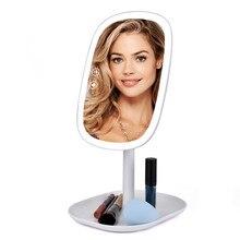 47 Led ライト 360 回転デスクトップミラータッチスクリーン化粧鏡プロバニティミラー美容調節可能なカウンター