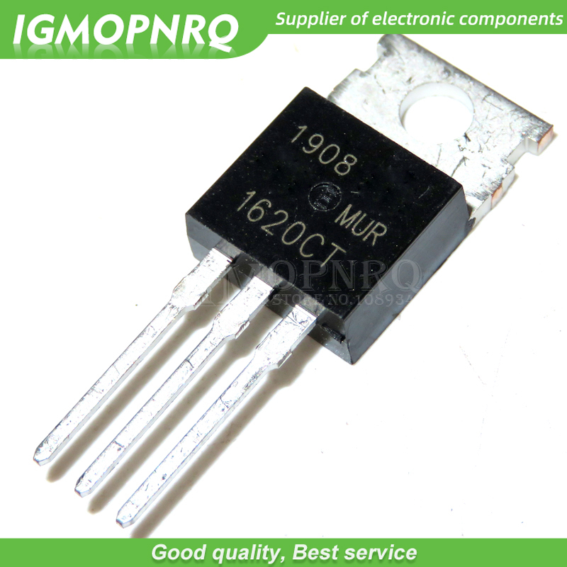 10PCS MUR1620CT MUR1620 TO220 Fast Schottky Diode New Original