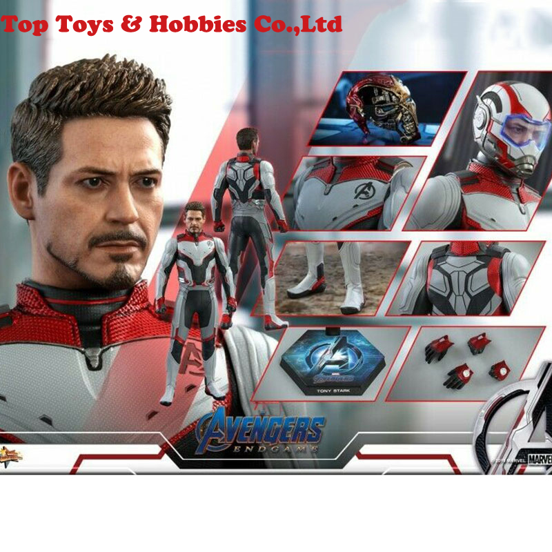 Full set figure for collection Hot Toys 1/6 MMS537 Avengers: Endgame Tony Stark Team Suit Action Figures Doll Toys Box Set