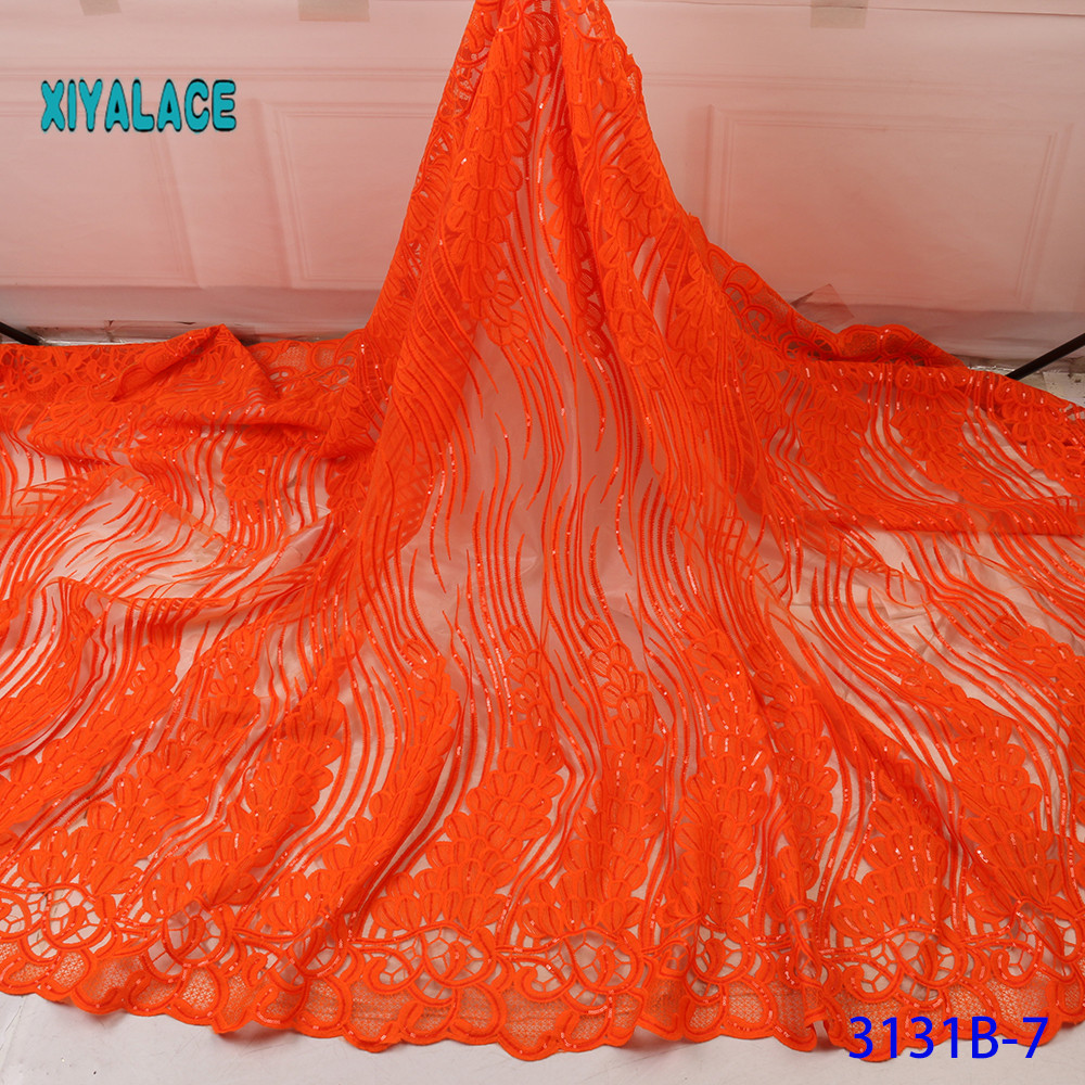 2019 High Quality Embroidered Lace Fabric Nigerian Woman Lace Fabrics Dress African Lace Fabric French Lace Fabric Wedding 3131B