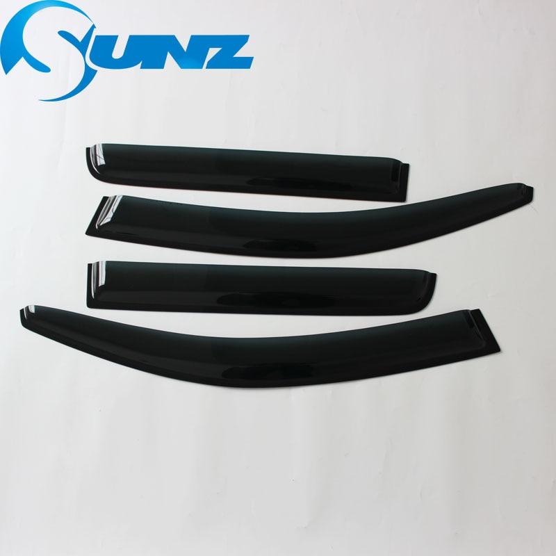 Image 2 - Car styling Acrylic Window Wind Deflector Visor Rain Sun Guard Vent For Mitsubishi Outlander 2008 2009 2010 2011 2012 2013 SUNZ