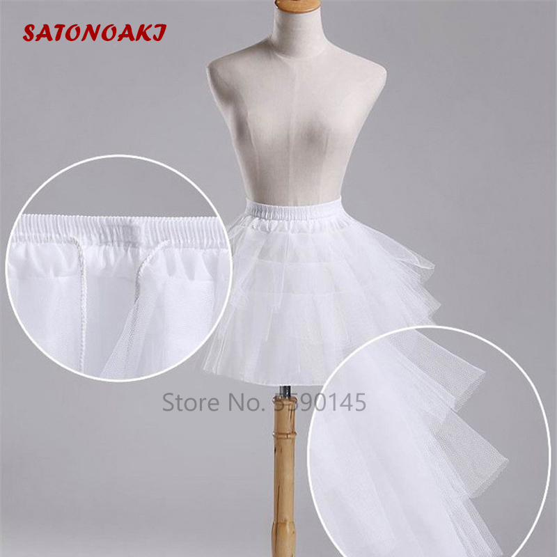 Beautiful White Or Black Short Petticoats 2020 Women A Line 3 Layers Underskirt For Wedding Dress Jupon Cerceau Mariage In Stock