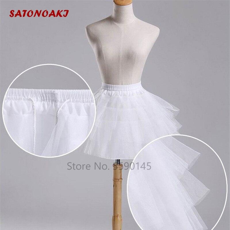 De calidad superior blanco negro enagua de Ballet Tulle meterse corto nupcial Lolita falda enagua Jupon Sous traje accesorios indefinido