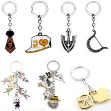 Keyring Keychain Bow-Arrow JOJOS Yoshikage-Tie ADVENTURE Killer-Queen Jotaro Metal BIZARRE