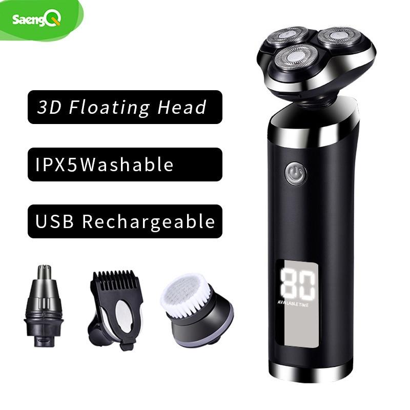 novo barbeador eletrico saengq cabecas flutuantes maquina 04
