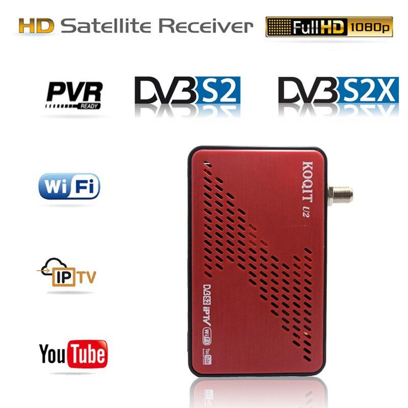 Koqit приемник satellit ТВ приемник DVB-S2X DVB-S2 Авто Biss декодер iP ТВ приемник спутниковый искатель Youtube Wifi афера/iks tv box