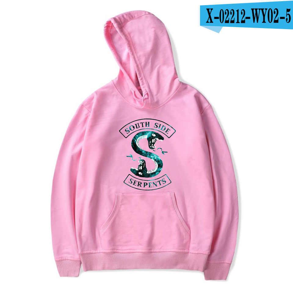 Print Riverdale Hoodie Sweatshirts Men Women Casual Hoodies Long Sleeve Pullover Harajuku Serpents Streetwear Clothes