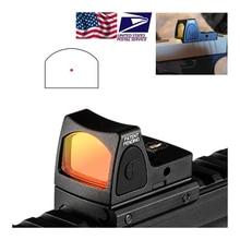 3.25 moa red dot sight colimador glock 19 âmbito reflexo caça ajustável led baixo picatinny montagem em trilho RM06 C 700673