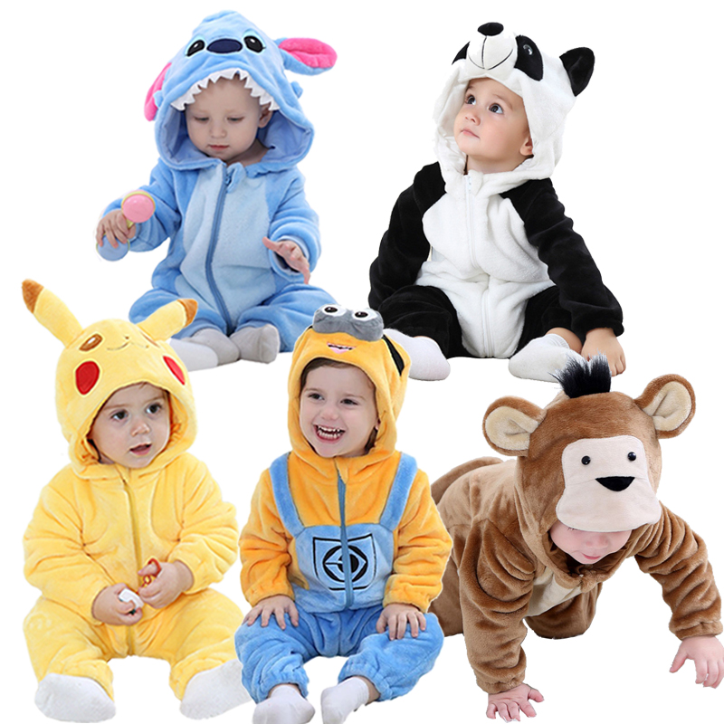 Baby   Rompers   Boys Girls Clothes New Born Baby Costume Jumpsuit Infant Onesie Winter Toddler Stich Pajamas Overalls ropa de bebes