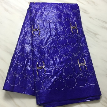 Gold Beaded African Bazin Riche Lace Fabric With Stones Jacquard Style Beads And Stones African Indian Women Wedding Dress Basin