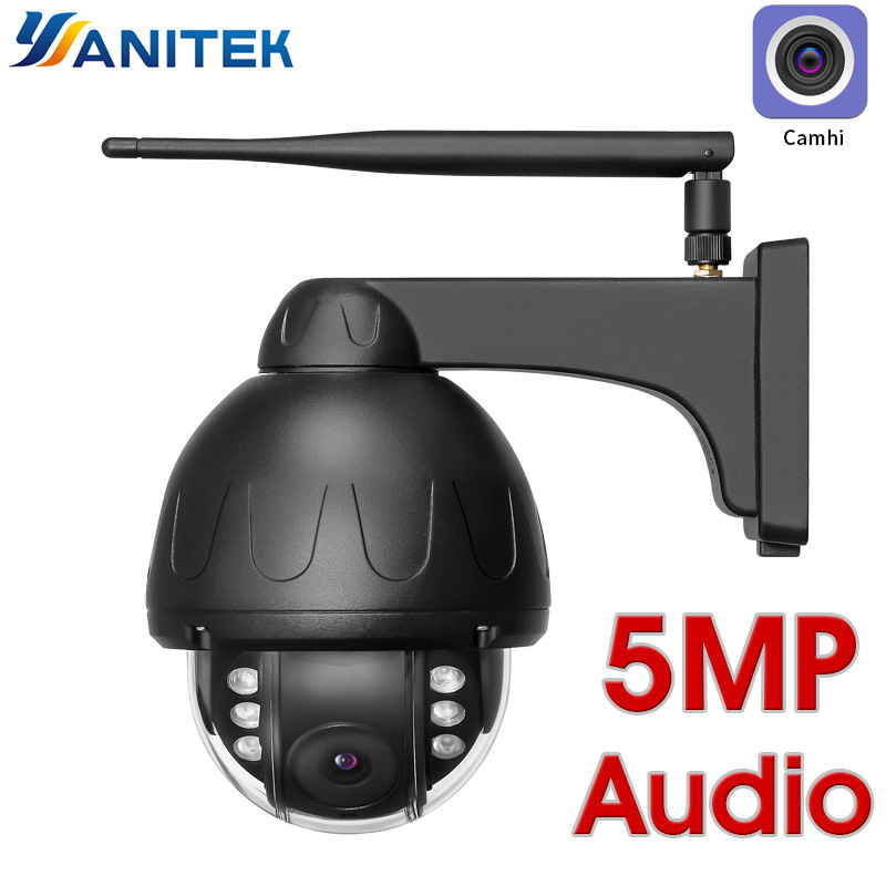 H.265 5MP 2MP Wifi Dome IP Camera ONVIF Speed Dome Waterproof Wireless IR Night Wi-Fi CCTV Microphone Speaker Audio Talk SD Card