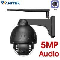 H.265 5MP 2MP Wifi Dome Ip kamera ONVIF Speed Dome Wasserdichte Drahtlose IR Nacht Wi Fi CCTV Mikrofon Lautsprecher Audio Sprechen SD karte-in Überwachungskameras aus Sicherheit und Schutz bei