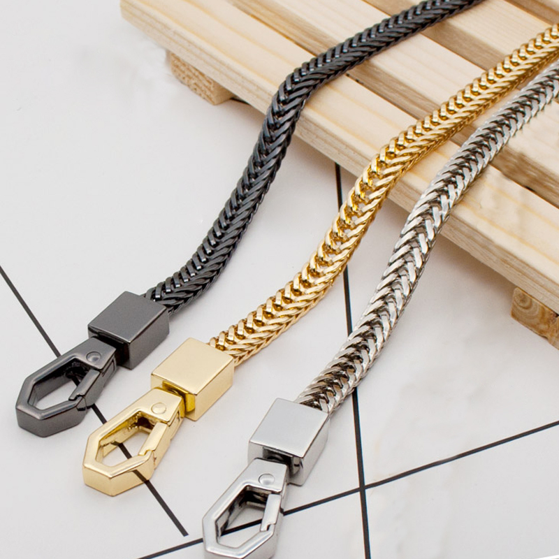 DIY 40cm-160cm Gold, Silver, Gun Black 7mm Shoulder Crossbody Bag Chain Straps For Small Handbags Purses Replacement Handle