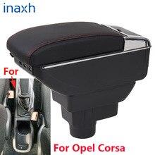 صندوق مسند ذراع السيارة أوبل كورسا D ، مسند ذراع السيارة الداخلي ، أجزاء محدثة ، ملحقات ، مصابيح LED USB