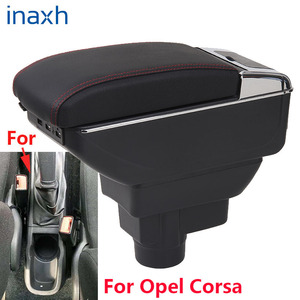 Image 1 - صندوق مسند ذراع السيارة أوبل كورسا D ، مسند ذراع السيارة الداخلي ، أجزاء محدثة ، ملحقات ، مصابيح LED USB