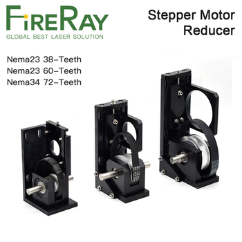 Fireray Stepper Motor Reducer Y-axis Motor Base Nema23 38/60-Teeth Nema34 72-Teeth for Laser Cutting and Engraving Machine right angle 90 degree planetary gearbox reducer 12 arcmin 2 stage ratio 15 1 to 100 1 for nema34 stepper motor input shaft 14mm