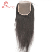 Hair-Extension Lace Closure Swiss Ms.merry Transparent with Baby-Hair Striaght Brazilian