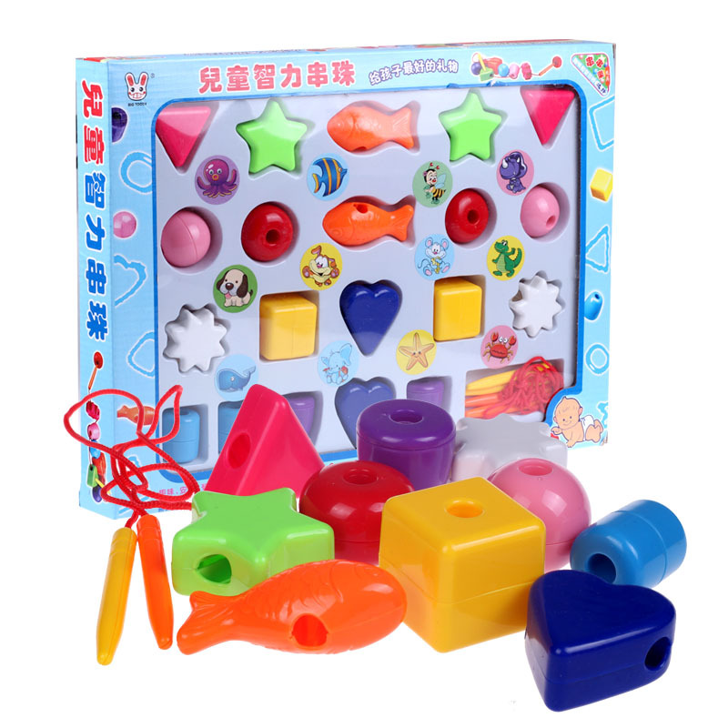 Beaded Bracelet CHILDREN'S Toy Educational Flexible Block Jewelry Treasure Early Education Aged 1-2 Years 3-Year-Old Threading B