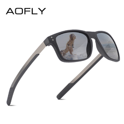 AOFLY BRAND DESIGN Fashion Male Sunglasses TR90 Flexible Frame Fishing Square Sunglasses Men Polarized sonnenbrille herren UV400