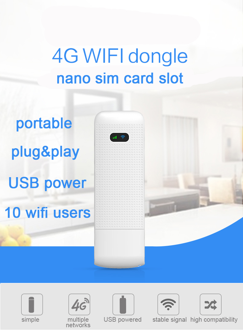 LDW922 nano SIM Card Slot Mobile Portable Wireless LTE USB modem dongle pocket hotspot  4G WiFi Router