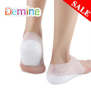 Silicone Insoles Heel-Pads Increase-Socks Foot-Massage Invisible-Height Unisex Breathable