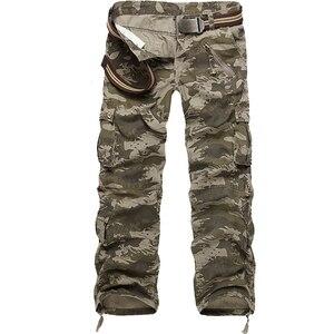 Image 3 - Dropshipping Cotone Cargo Pantaloni Da Uomo in Stile Militare Tattico Allenamento Pantaloni Dritti Casual Camouflage Pantaloni Uomo
