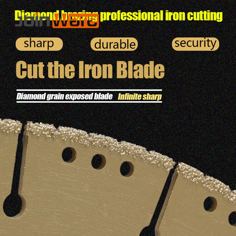 DIATOOL 1pc 350mm Vacuum Brazed Diamond Blade For All Purpose 14 Demolition Blade For Stone Iron Steel - 2