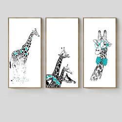 Импортные товары, новый стиль, Лидер продаж, европейский стиль, креативный джентльмен, жираф, декоративная живопись, гостиная, детская