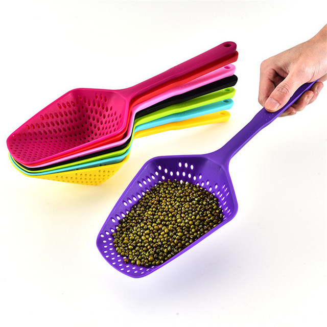 Nylon strainer, large spoon strainer kitchen accessories