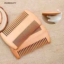 New Peach Wood Beard Comb Ultra-Dense Thickened Wide-Tooth Wood Comb Modeling Tool Double-Sided Grate Comb Beard Comb г ф хенделл соната для виолы да гамба и клавесина