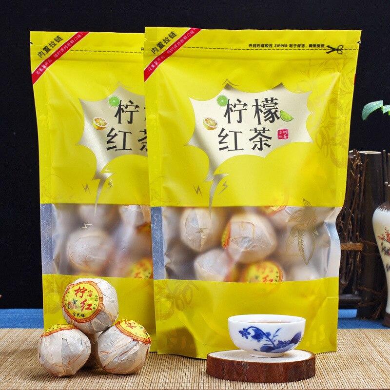 Chinese Fujian Lemon Red Tea The Premium Lemon Balck Tea Beauty Slimming Diuretic Down Three Green Food Black Tea