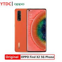 Original OPPO encontrar X2 5G 6,7 pulgadas Smartphone Snapdragon 865 8-core 8GB RAM 128GB ROM Cámara 48MP + 12MP + 13MP 4200mAh batería de la batería