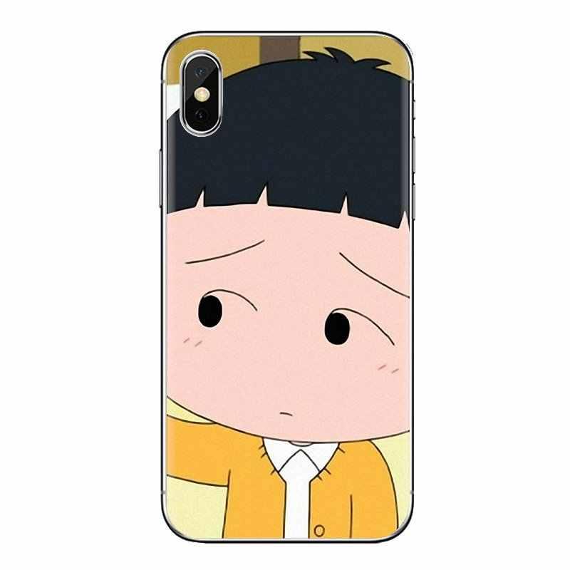 Morbido Trasparente Borsette Custodie Chibi Maruko Chan Arte Per LG G3 G4 Mini G5 G6 G7 Q6 Q7 Q8 Q9 v10 V20 V30 X Power 2 3 K10 K4 K8 2017
