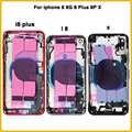 Чехол с полным корпусом для iphone 8, 8G, 8 Plus, 8 P X, задняя крышка для батареи, задняя крышка для двери + средняя рамка Шасси с гибким кабелем + sim-карт...