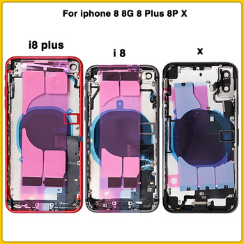 Full Housing Case For iphone 8 8G 8 Plus 8P X Battery Back Cover Door Rear Cover+ Chassis middle Frame With Flex Cable with CE цена 2017