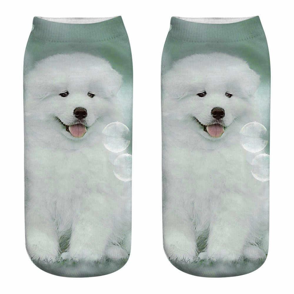 Sevimli rahat Unisex sanat çorap moda 3d köpek baskı orta spor çorapları Ropa Mujer moda serin komik kedi yaşam çorap 2020 yeni