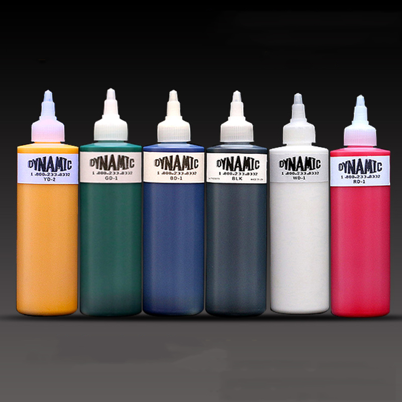 High Quality Dynamic Color Tattoo Ink For Body Paint 8OZ Tattoo Pigment Original Import Supplies For Professional Artist