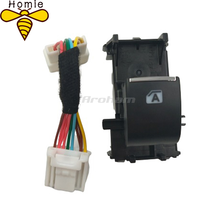 3PCS Lighted LED Power Single Window Switch With Cable For Toyota RAV4 <font><b>RAV</b></font> <font><b>4</b></font> <font><b>2019</b></font> 2020 Backlight With A image