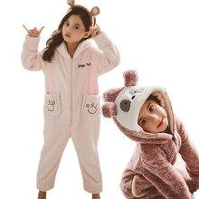 Одеяло для маленьких девочек; Пижама для сна; милый детский флисовый комбинезон с изображением животных; детская толстовка с капюшоном и рисунком панды; комбинезон для подростков