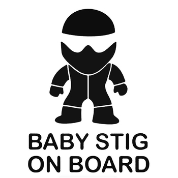 PLAY COOL Car Sticker Baby Stig on Board Automobiles Motorcycles Accessories Vinyl Decal for BMW VW Audi Octavia Gti Skoda 1pcs new 3d aluminum baby in car stickers for ford focus cruze kia rio skoda octavia mazda opel vw audi bmw lada car accessories