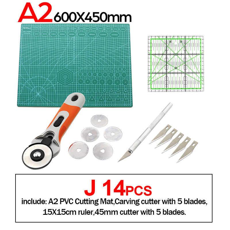 A1 A2 A3 A4 mata do cięcia z pcv Patchwork Cut Pad instrukcja DIY narzędzie skórzane deska do krojenia dwustronna samolecząca podkładka do cięcia