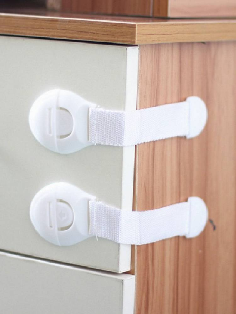 Plastic Latch Cabinet-Lock Drawers Cupboards Childproof-Product Safety-Protection Baby