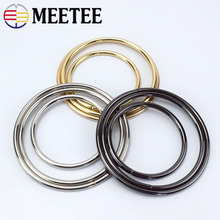Meetee 2/6/10pcs O Ring Metal Bag Handle Buckles for Women Handbag Lock Decoration Clasp Handles Connect Part Accessory